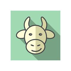 Cow icon. Farm animal vector illustration