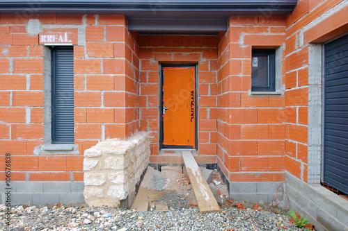 Construction maison moderne czm photo libre de droits for Construction maison contemporaine tarif