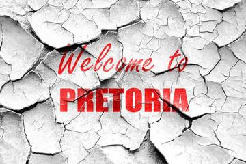 Grunge cracked Welcome to pretoria