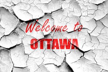 Grunge cracked Welcome to ottawa