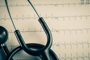 medical examination, electrocardiogram, heart medicine and thera