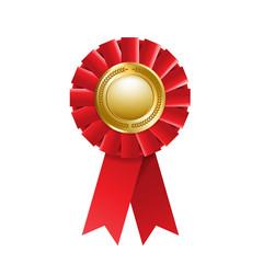 Red award rosette