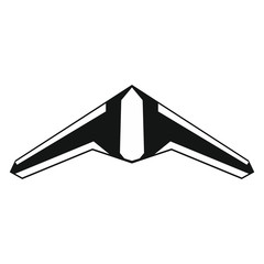 Drone vector icon in black style