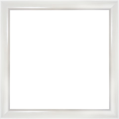 Wooden modern white picture frame