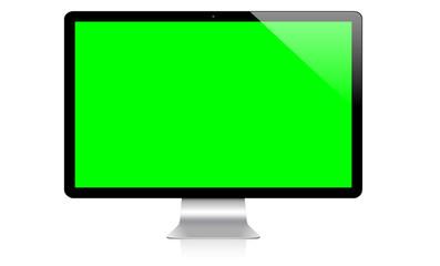 Modern computer on white background