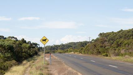 road sign in rural Australia