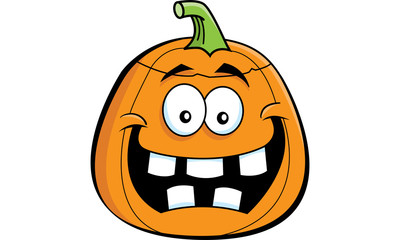 Cartoon illustration of a Jack O Lantern.