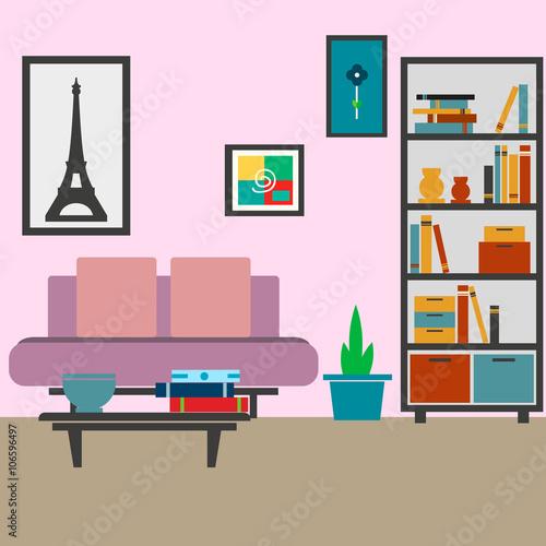 Modern Living Room Vector Illustration For Your Ideas