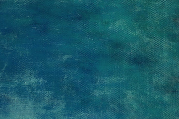Abstract dark blue oil painting on the canvas background. Art concept.