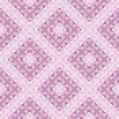 Seamless vector geometric pattern. Violet pastel background with decorative ornament . Series of Decorative and Ornamental Seamless Patterns.