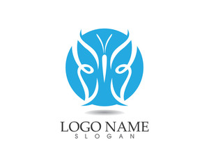 Butterfly beauty logo