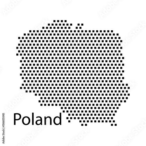 map of Poland,dot\