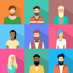 People Profile Diversity Avatar Set Icon Mix Race Ethnic