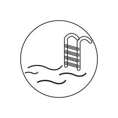 swimming pool icon,