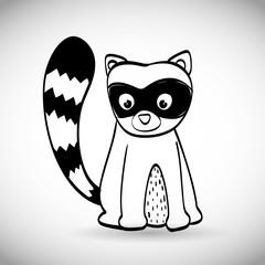 Skunk icon design, vector illustration