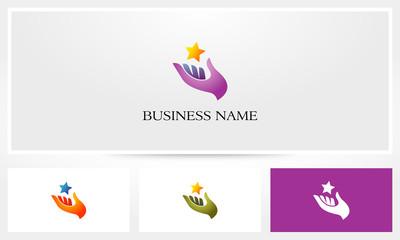 Hand Star Help Logo
