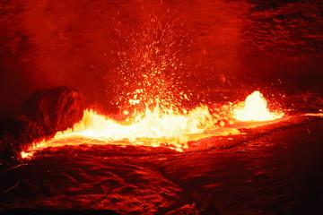 Burning lava lake in the Erta Ale volcano-Danakil-Ethiopia. 0207