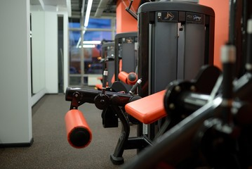 Detail of the sports exercise machine