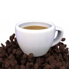 3D cup of espresso