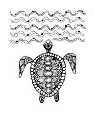 Tortoise ornate, zentangle for your design