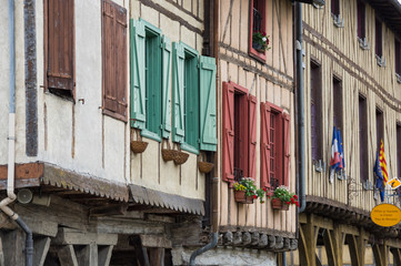 Wall Mural - Medieval village Mirepoix