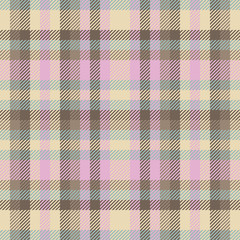 Scottish wool plaid checkered vintage decoration seamless vector