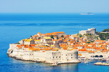 View on ancient, old town in Dubrovnik. Croatia.