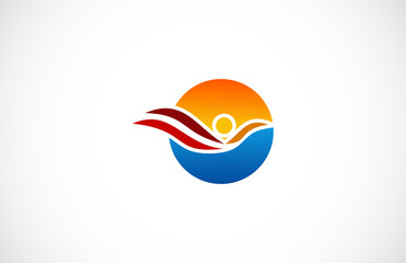 round people wing logo