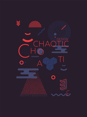 Chaotic Geometric Abstract Background