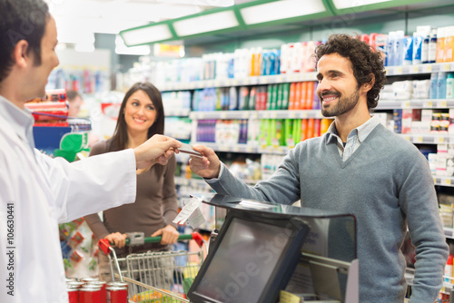 Quot Customer Paying The Bill In A Supermarket Quot Stock Photo
