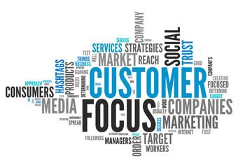 Word Cloud Customer Focus