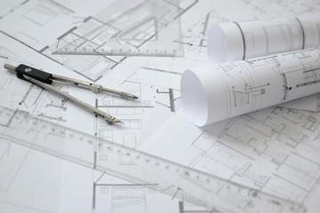 Baupläne / Architektur Hintergrund