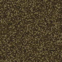 Dark brown seamless digital camo texture vector