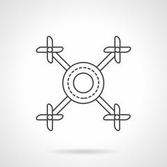 Multicopter line flat line vector icon