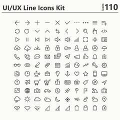 UI and UX big bold line icons kit