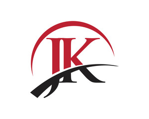 JK red letter logo swoosh