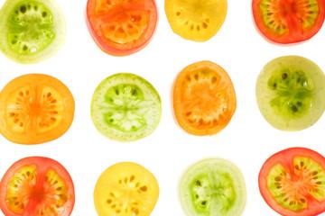 カラフルなトマトの背景素材