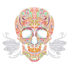 Color decorative Skull