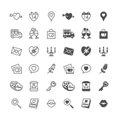 Valentine's day icons, included normal and enable state.