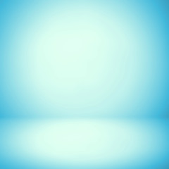 Abstract background texture of light blue and gray gradient wall, flat floor. for product.