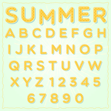 2 tone bubble font with number