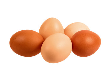 Wall Mural - Eggs. Isolated on white background