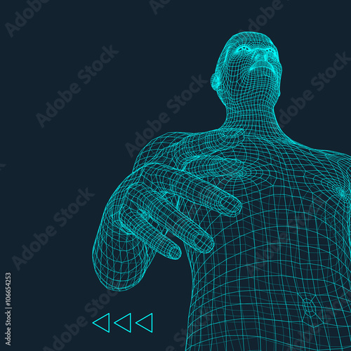 Man  3D Model of Man  Human Body Model  Body Scanning  View