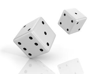 3D illustration of dice