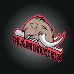 Modern professional mammoths  logo for a club or sport team