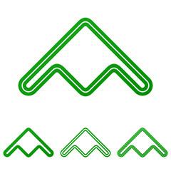 Green line product logo design set