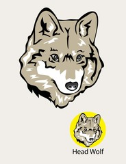 Wolf Head Logo and Emblem, art vector design
