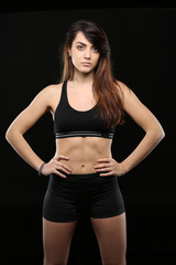 portrait de femme au cours de  fitness