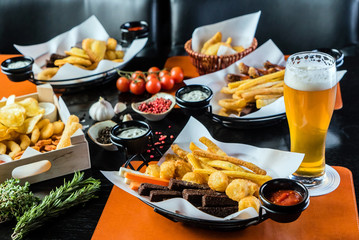 Photo sur Aluminium Buffet, Bar appetizer in the bar