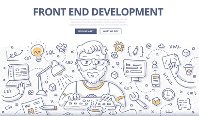 Front End Development Doodle Concept